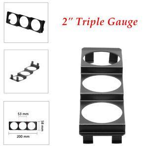 "1PCS Universal 2"" Triple Gauge 52mm Meter Pod Radio Din Panel Gauge Panel"