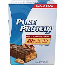 Pure Protein Revolution High Triple Layer Chocolate Peanut Caramel Bars