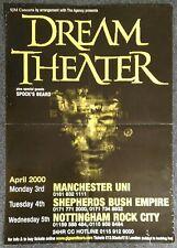 Dream Theater Metropolis 2000 UK CONCERT POSTER Spock's Beard