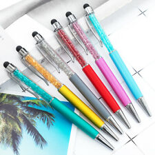 2pcs 2 in 1 Glitter Crystal Stylus Touch Screen Capacitive Pen for Phone Tablet