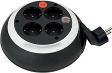 Brennenstuhl Kabelbox Mini-Kabeltrommel Stromverlängerung schwarz/weiß 3 m