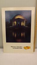VTG Kodak Film Sign/Poster Countertop Retail Display Jefferson Memorial DC NOS