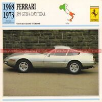 FERRARI 365 GTB4 ( GTB 4 ) Daytona 1968-1973 : Fiche Auto Collection