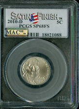 2010-D JEFFERSON NICKEL FLAG PCGS MS68 FS SF PQ 2ND FINEST  MAC SPOTLESS GC .