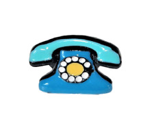 Lol Bijoux - Bague Téléphone Vintage - Pop Art - Bleu - Lolilota