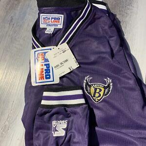 Baltimore Ravens Vintage Starter Pro Line Pullover B Shield Logo Team Issued?
