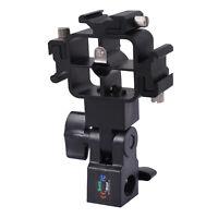 Tri-Hot Shoe Mount Flash Bracket/Umbrella Holder fr Nikon Metz Pentax Speedlight