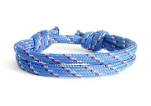 Men's Bracelet Rock Climbing Jewelry of Rope Unisex Adjustable Braided Cuff Blue