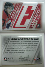 2011-12 ITG H&P Matt Puempel 1/1 letter nameplate 1 of 1 RC rookie Rangers