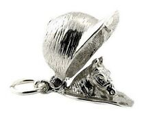 STERLING SILVER OPENING HORSE RIDER'S CAP CHARM