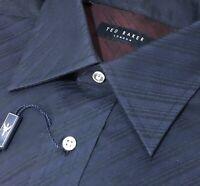 $150 Ted Baker London Men's 16 34/35 Dress Shirt Blue & Green Striped NWT