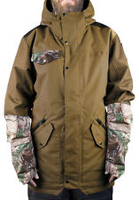 Neff Men's Parker Snowboard Jacket Brown/Realtree (L) Retail $300