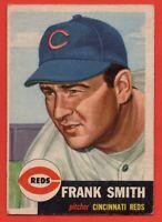 1953 Topps #116 Frank Smith VG-VGEX+ WRINKLE Cincinnati Reds FREE SHIPPING