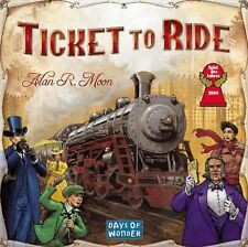 Ticket To Ride Game Board - 2-5 Players - 225 Colored Train Cars Halloween Gift