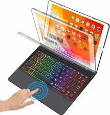 """For iPad 10.2"""" 7th gen 8th gen 2020 Stand Case with Touchpad Backlit keyboard"""