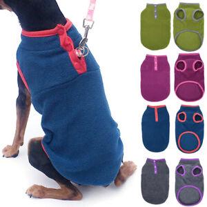 Pet Dog Warm Fleece Jumper Vest Coat Puppy Jacket Apparel Outdoor Clothes New