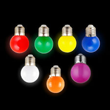 7 Colour 1W E27 Round LED Golf Ball Light Mini Bulb Lamp Energy Saving UK