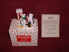"1998 Issue COCA-COLA ""Polar Bear CUB"" ""EXCLUSIVE""  Polyresin FIGURINE"