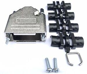 MH Connectors 15 Way D-Sub Connector Shell Hood MHDTZK15-K Zinc Top Entry