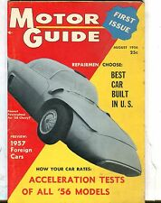 Motor Guide Magazine August 1956 '58 Chevy VG 060117nonjhe