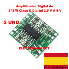2 UND Mini Digital Amplificador de Audio 2,5V - 5V 3W+3W AMP Module 5V USB