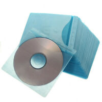 100X Double Side Cover Storage Case Plastic Bag Sleeve DVD 2018 CD Disc Hol Q5X3