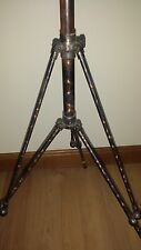 Exceptional vintage industrial antique Japanned finish copper Tripod camera lamp
