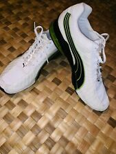 PUMA CELL WHITE NAVY TRIM ATHLETIC WORKOUT HIKING WALKING SHOES EXCELLENT SZ 14