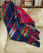 """Pendleton Beaver State Vivid Colors Green Blue Red Wool Robes & Shawls 61"""" x 37"""""""