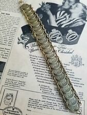 Italian Giovanni pont max pope XXIII vintage Catholic coin bracelet