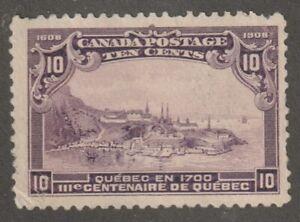 Canada 1908 #101 Quebec Tercentenary Issue (Quebec in 1700) F/VF Used