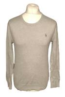 Ralph Lauren POLO Men's Grey Slim Fit Jumper Small 100% Pima Cotton