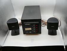 Bose Acoustimass 3  Vintage Speaker System - 2 Speakers + Subwoofer Black