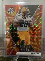 2020 Panini Mosaic Football AJ Dillon Reactive Gold Prizm RC