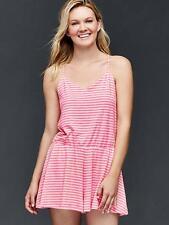 Gap Women's Pink Stripe Cami Skort Romper Size L