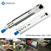 "Heavy Duty Drawer Slides with Lock 12""~40"" Full Extension 1 Pair VADANIA 256lb"
