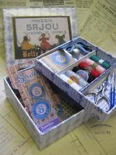Sajou français vintage style antique sewing box-petites filles à coudre
