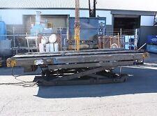 Powered Chain mesh 2x 5m x 0.75m belt Conveyor adjustable height & angle 3 phase