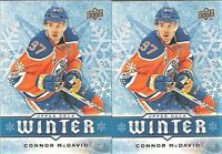 2017-18 Upper Deck Winter #W5 Connor McDavid Edmonton Oilers Lot X 2