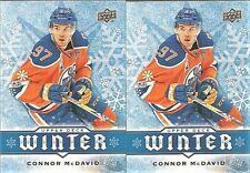 2017-18 Upper Deck Winter #W5 Connor McDavid Edmonton Oilers Lot X 2