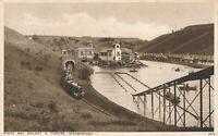 PC25837 North Bay Railway and Theatre. Scarborough. Salmon. Gravure. No 8978. 19