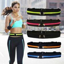 Waist Bag Unisex Pack Men Women Double Pocket Waterproof Belt Nylon Casual Sport