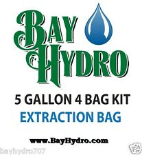 BAY HYDRO 5gal / 4bag Bubble ICE Extraction Bags HIGH QUALITY Make Clean MEDS
