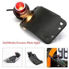 12V Motorcycle LED Brake Side License Plate Stop Retro Tail Light Red Indicator