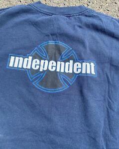 Vintage 90's Independent Truck Company Double Sided Skater Graphic T-Shirt Large
