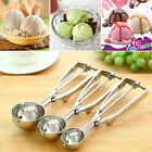 Ice Cream Spoon Stainless Steel Spring Handle Masher Cookie Scoop NEW