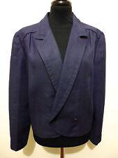 VALENTINO VINTAGE '80 Giacca Donna Lino Flax Woman Jacket Sz.L - 46