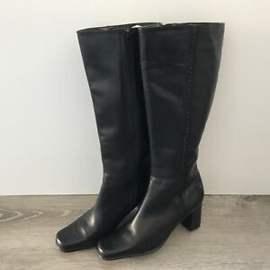 Women's Black Leather Knee High Boots Women's Size 8 M Boots