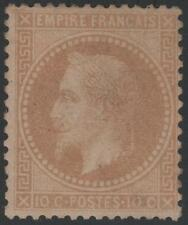 """FRANCE STAMP TIMBRE N° 28 Ba """" NAPOLEON III 10c BISTRE FONCE """" NEUF x TB  K338"""