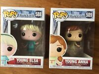Disney FROZEN 2 • YOUNG ELSA and YOUNG ANNA #588 #589 • FUNKO POP! VINYL FIGURES